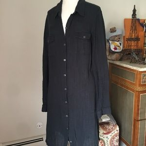 Free People shirt dress/coverup/tunic Large